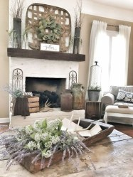 Rustic Farmhouse Fireplace Ideas For Your Living Room 10