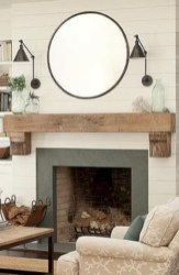 Rustic Farmhouse Fireplace Ideas For Your Living Room 12