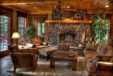 Rustic Farmhouse Fireplace Ideas For Your Living Room 14
