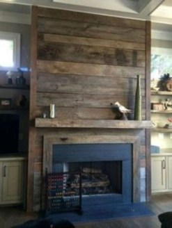 Rustic Farmhouse Fireplace Ideas For Your Living Room 25