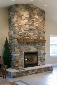 Rustic Farmhouse Fireplace Ideas For Your Living Room 26