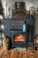 Rustic Farmhouse Fireplace Ideas For Your Living Room 35