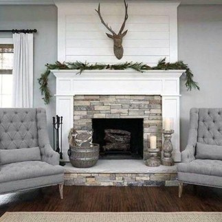 Rustic Farmhouse Fireplace Ideas For Your Living Room 43