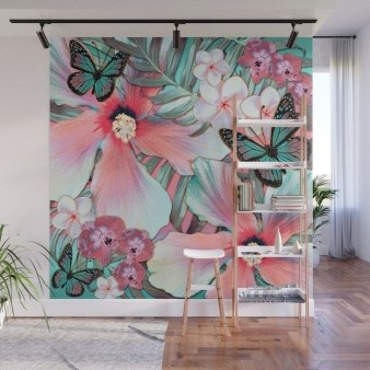 Best Ideas Of Tropical Wall Mural For Summer 07