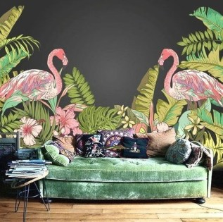 Best Ideas Of Tropical Wall Mural For Summer 30