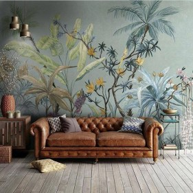 Best Ideas Of Tropical Wall Mural For Summer 39
