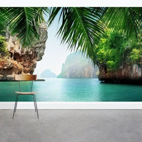 Best Ideas Of Tropical Wall Mural For Summer 43