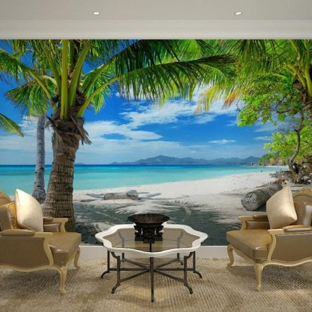 Best Ideas Of Tropical Wall Mural For Summer 58