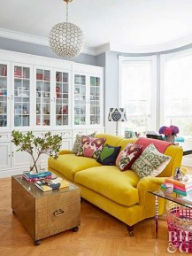 Comfy Colorful Sofa Ideas For Living Room Design 39