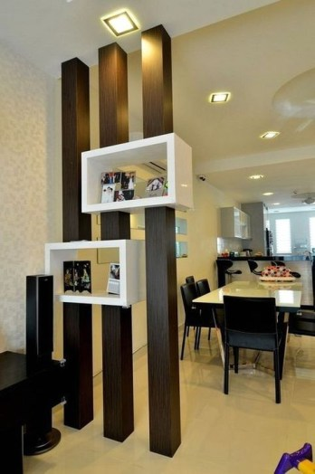 Cool Partition Living Room Ideas 47
