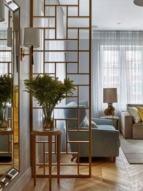 Cool Partition Living Room Ideas 54