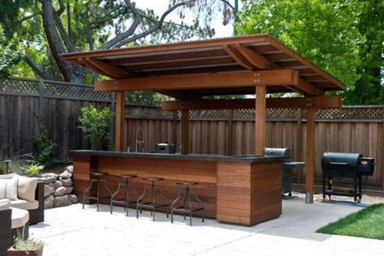 Cozy Outdoor Kitchen Design Ideas 19