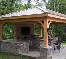 Cozy Outdoor Kitchen Design Ideas 21