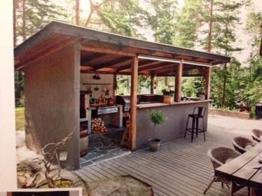 Cozy Outdoor Kitchen Design Ideas 40