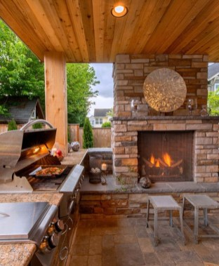 Cozy Outdoor Kitchen Design Ideas 47