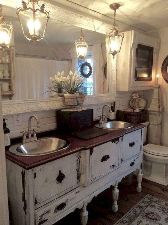 Cute Shabby Chic Bathroom Design Ideas 03