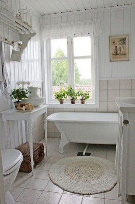 Cute Shabby Chic Bathroom Design Ideas 26
