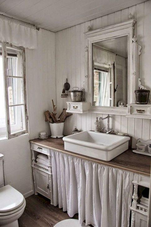 Cute Shabby Chic Bathroom Design Ideas 45