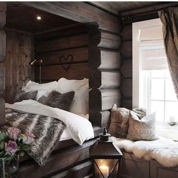 Genius Rustic Scandinavian Bedroom Design Ideas 06