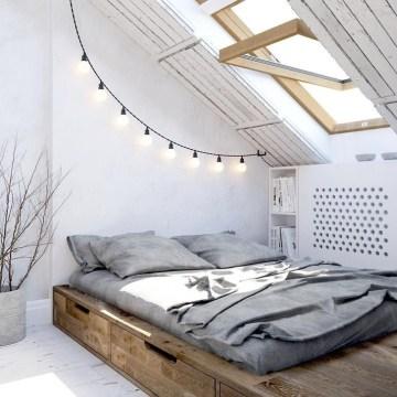 Genius Rustic Scandinavian Bedroom Design Ideas 07