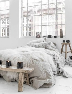 Genius Rustic Scandinavian Bedroom Design Ideas 39