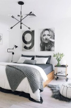 Genius Rustic Scandinavian Bedroom Design Ideas 40