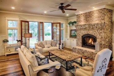 Gorgeous Farmhouse Design Ideas For Living Room 31