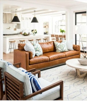 Gorgeous Farmhouse Design Ideas For Living Room 36