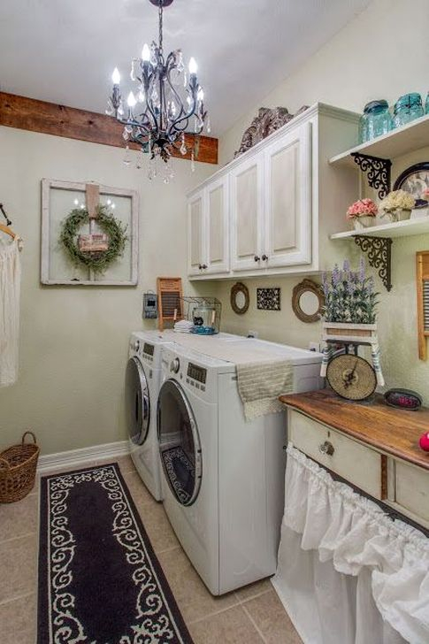 Innovative Laundry Room Design With French Country Style 05