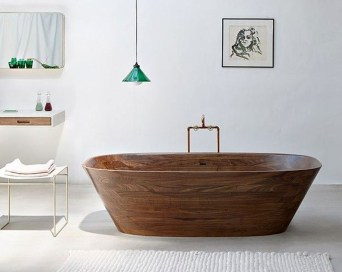Marvelous Wooden Bathtub Design Ideas To Get Relax 02