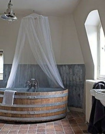 Marvelous Wooden Bathtub Design Ideas To Get Relax 08