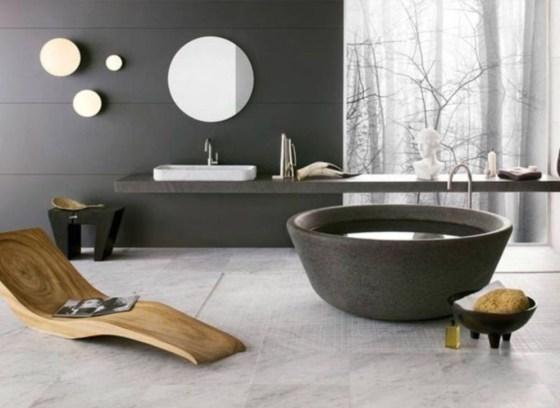Marvelous Wooden Bathtub Design Ideas To Get Relax 36