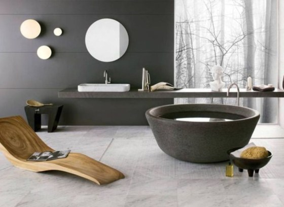 Marvelous Wooden Bathtub Design Ideas To Get Relax 36
