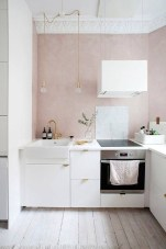 Minimalist Small White Kitchen Design Ideas 28