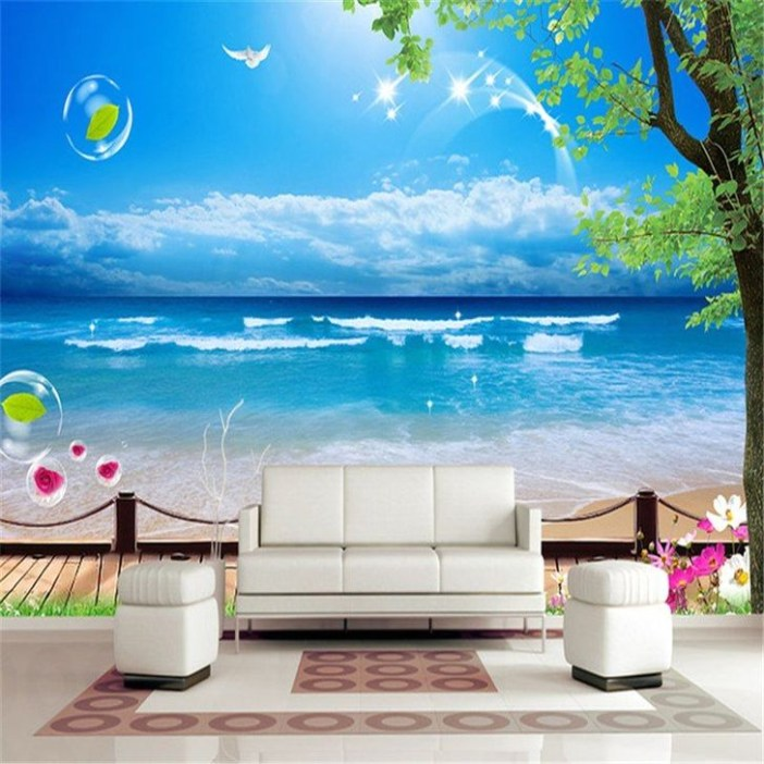 Perfect 3D Wallpapaer Design Ideas For Living Room 12
