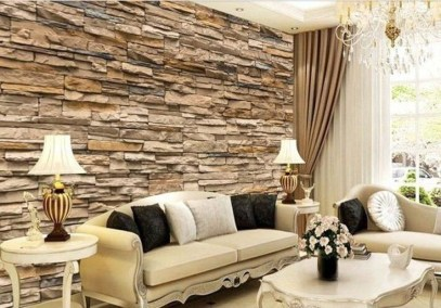 Perfect 3D Wallpapaer Design Ideas For Living Room 43