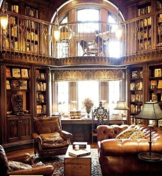 Wonderful Home Library Design Ideas To Make Your Home Look Fantastic 07