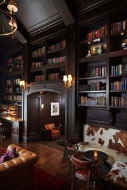 Wonderful Home Library Design Ideas To Make Your Home Look Fantastic 23