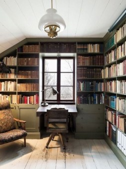 Wonderful Home Library Design Ideas To Make Your Home Look Fantastic 33