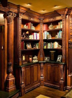 Wonderful Home Library Design Ideas To Make Your Home Look Fantastic 57