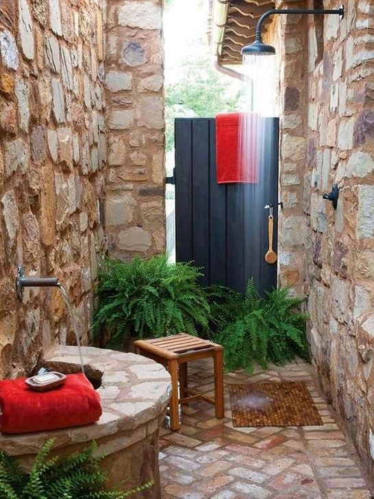 Best Ideas For Outdoor Bathroom Design 50