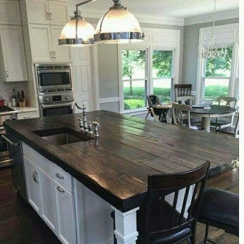 Classy Wooden Kitchen Island Ideas For Your Kitchen 06