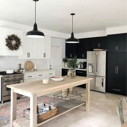 Classy Wooden Kitchen Island Ideas For Your Kitchen 12