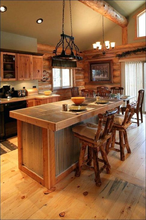 Classy Wooden Kitchen Island Ideas For Your Kitchen 14