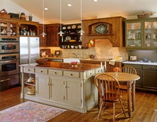 Classy Wooden Kitchen Island Ideas For Your Kitchen 37