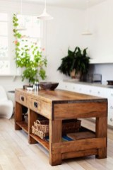 Classy Wooden Kitchen Island Ideas For Your Kitchen 45