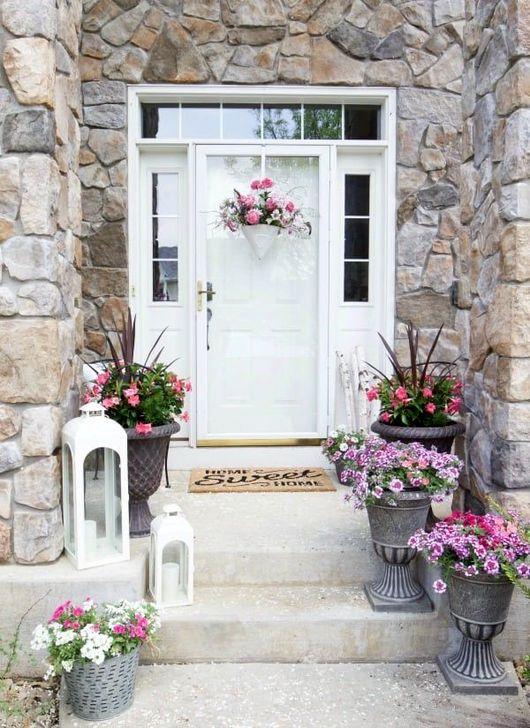Creative Front Door Flowers Pot Ideas 08