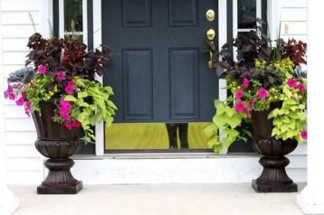 Creative Front Door Flowers Pot Ideas 16