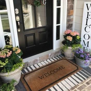 Creative Front Door Flowers Pot Ideas 21