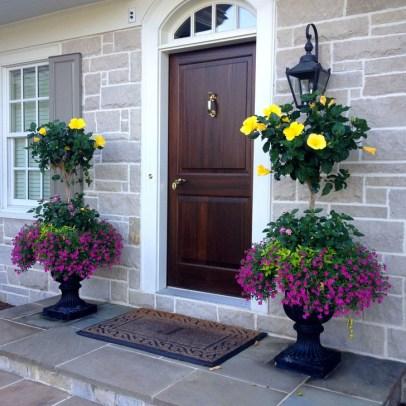 Creative Front Door Flowers Pot Ideas 23